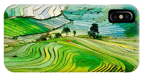 Horticulture iPhone Case - Beautiful Landscape About Terraced Rice by Jimmy Tran