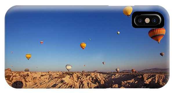 Cappadocia iPhone Case - Beautiful Landscape With Hot Air by Song about summer