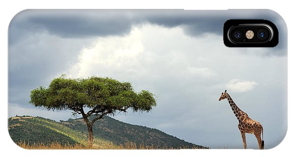 East Africa iPhone Case - Beautiful Landscape With Nobody Tree by Volodymyr Burdiak
