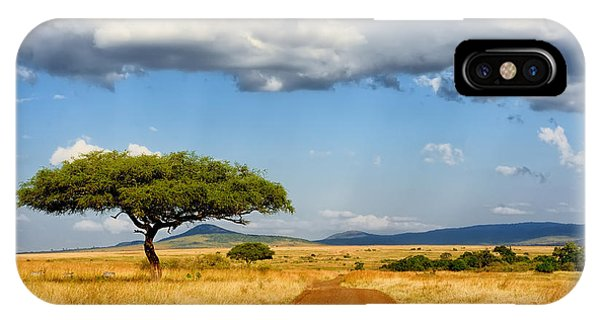 East Africa iPhone Case - Beautiful Landscape With Tree In Africa by Volodymyr Burdiak