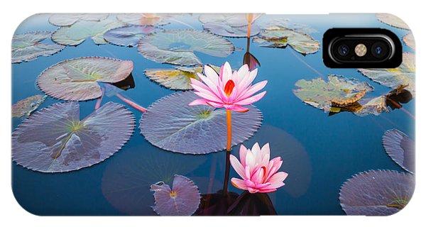 Aquatic Plants iPhone Case - Beautiful Lotus Flower Outdoor by Kridsada Tipchot
