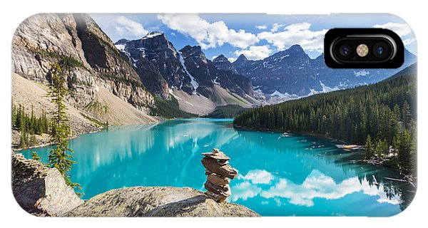 Banff iPhone Case - Beautiful Moraine Lake In Banff by Galyna Andrushko
