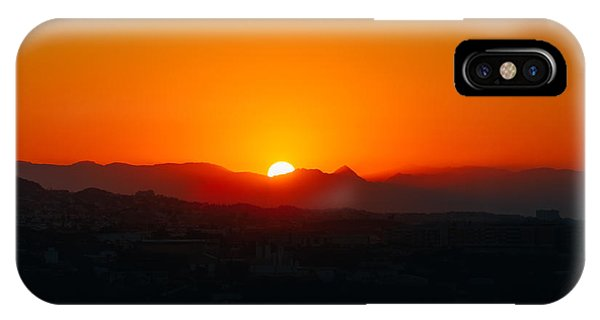 Red Rock iPhone X Case - Beautiful Mountain And Sunset Over by Grisha Bruev