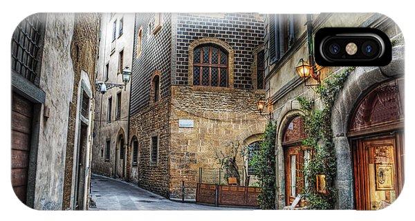 Estate iPhone Case - Beautiful Narrow Street In Florence by Gabriele Maltinti