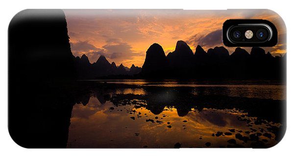 Dusk iPhone Case - Beautiful Nature Scene Of A Motion by Pius Lee