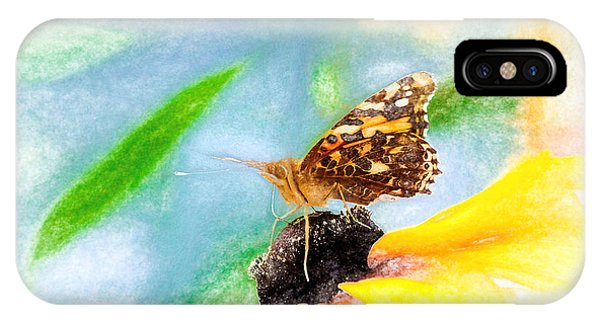 IPhone Case featuring the photograph Beautiful Painted Lady Butterfly by Don Northup