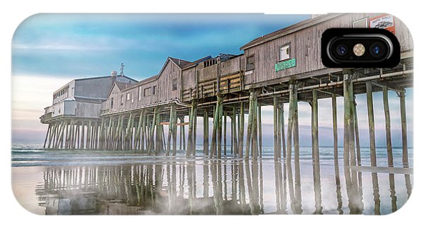 Orchard Beach iPhone Case - Beautiful Pier Maine Morning by Betsy Knapp