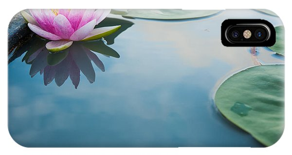 Aquatic Plants iPhone Case - Beautiful Pink Lotus, Water Plant With by Vasin Lee