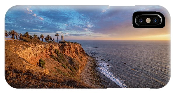 Beautiful Point Vicente Lighthouse At Sunset IPhone Case