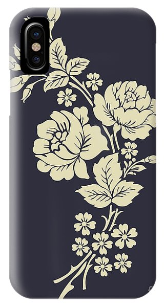 Floral Arrangement iPhone Case - Beautiful Rose Flowers On The Dark by Flower Design Sketch Gallery