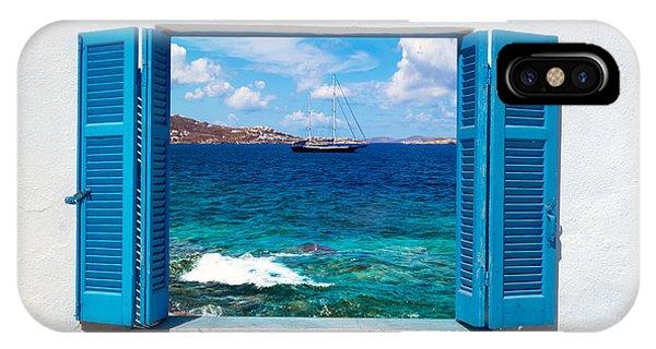 Hotel iPhone Case - Beautiful Sailboat Sailing Sail Blue by Yiannis Papadimitriou