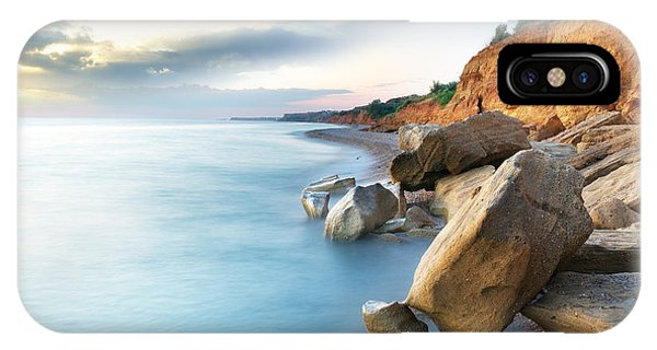 Red Rock iPhone X Case - Beautiful Sea Landscape. Composition Of by Djgis