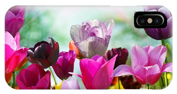 Bouquet iPhone Case - Beautiful Spring Flowers by Monika Gniot