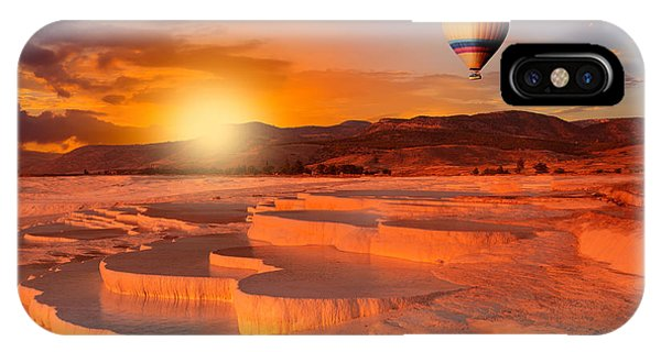 White Mountains iPhone Case - Beautiful Sunrise And Natural by Muratart