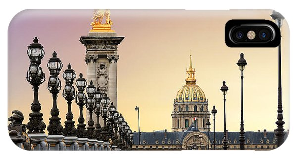 Dome iPhone Case - Beautiful Sunrise At The Pont Alexandre by Dennis Van De Water