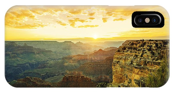 Rock Formation iPhone Case - Beautiful Sunset At Monument Valley, Usa by Prochasson Frederic