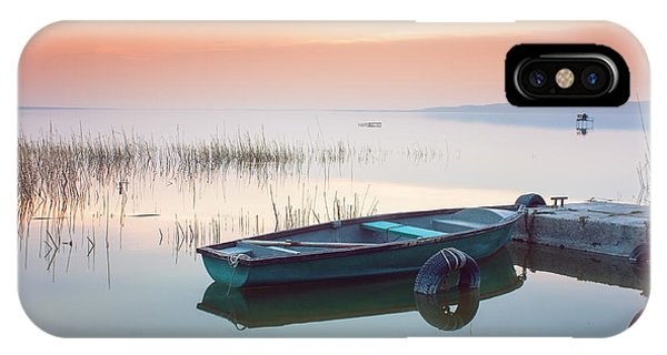 Dusk iPhone Case - Beautiful Sunset On Lake Balaton With by Leicheroliver
