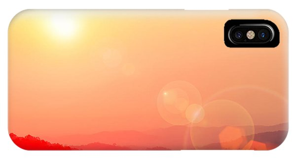 Beautiful Sunrise iPhone Case - Beautiful Sunset Sky With Flare At by Twstock