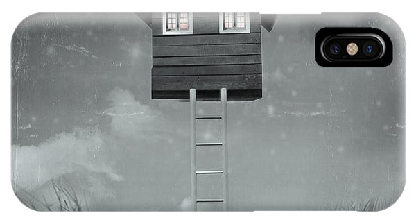 Grey Background iPhone Case - Beautiful Surreal Artistic Image That by Valentina Photos