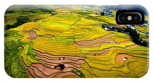 Horticulture iPhone Case - Beautiful Terraced Rice Field In by Jimmy Tran