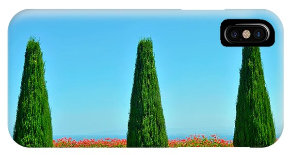 Space iPhone Case - Beautiful Trees And Flowers In The by Malinovskaya Yulia