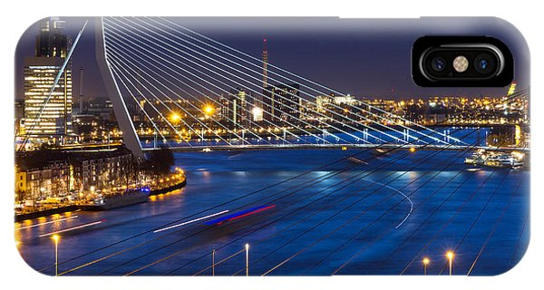 Dusk iPhone Case - Beautiful Twilight View On The Bridges by Dennis Van De Water