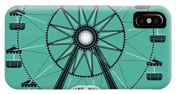 Fair iPhone Case - Beautiful Vector Ferris Observation by Mascha Tace