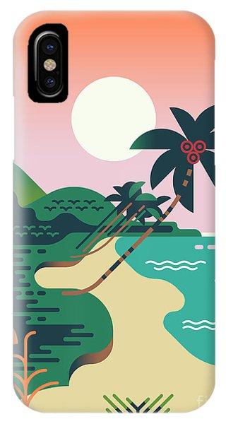 Shrub iPhone Case - Beautiful Vector Flat Design by Mascha Tace
