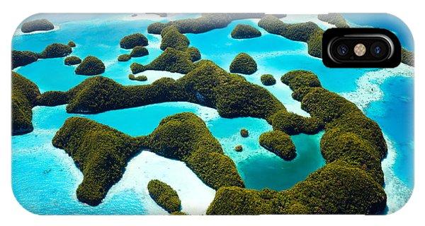 Travel Destination iPhone Case - Beautiful View Of 70 Islands In Palau by Blueorange Studio