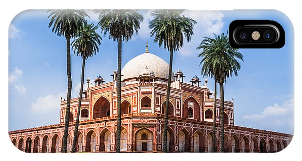 Spirituality iPhone Case - Beautiful View Of Humayuns Tomb by Swapan Banik