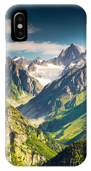 Spring Mountains iPhone Case - Beautiful Walley In Caucasus Mountains by My Good Images