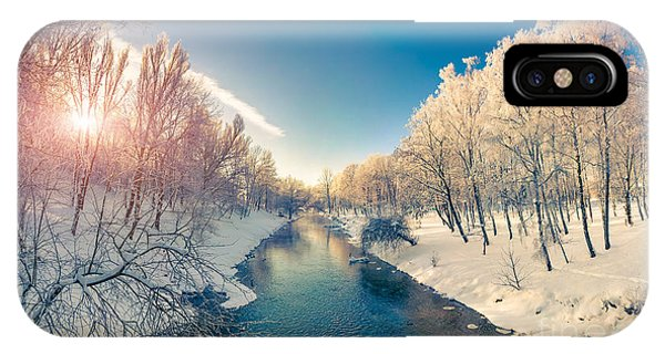Beautiful Sunrise iPhone Case - Beautiful Winter Sunrise In The City by Andrew Mayovskyy