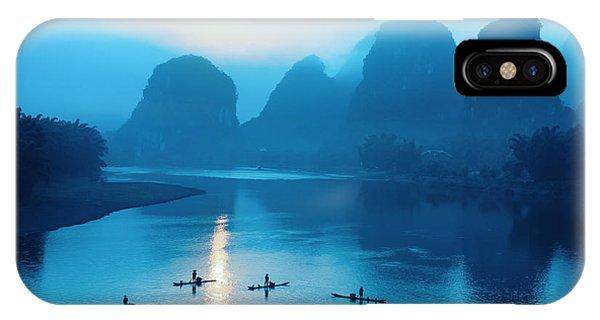 Rock Formation iPhone Case - Beautiful Yangshuo Scenery In by Chuyuss