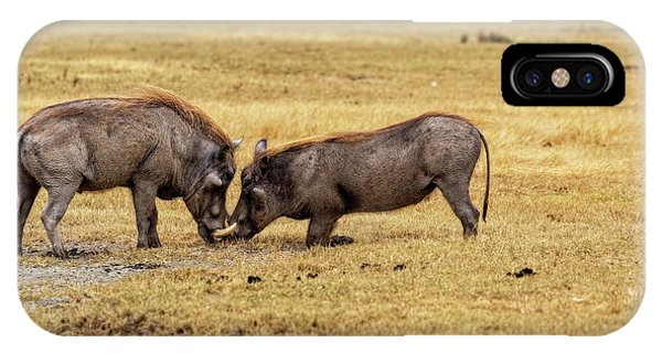 IPhone Case featuring the photograph Beauty On The Hoof, The Warthog by Kay Brewer