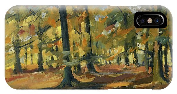 Briex iPhone Case - Beeches In Autumn by Nop Briex