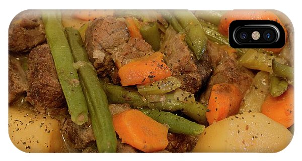 IPhone Case featuring the photograph Beef Stew Serving by Angie Tirado