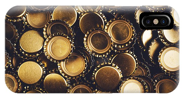Alcoholism iPhone Case - Beer Bottle Caps Piled by Igorstevanovic