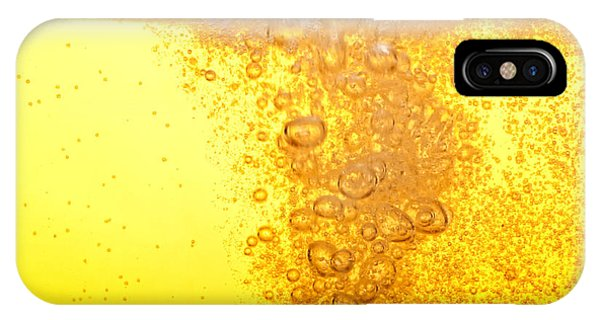 Clear iPhone Case - Beer Bubbles In The High Magnification by Faferek