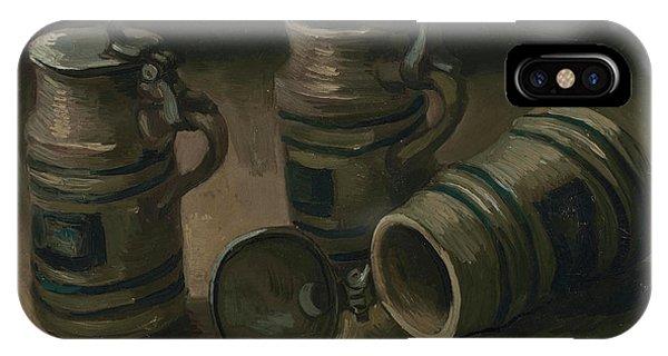 Van Gogh Museum iPhone Case - Beer Tankards by Vincent Van Gogh