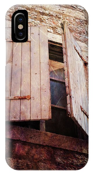 IPhone Case featuring the photograph Behind Shutters by Randi Grace Nilsberg
