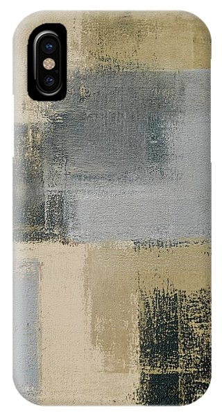 Gallery Wall iPhone Case - Beige And Grey Abstract Art Painting by T30 Gallery