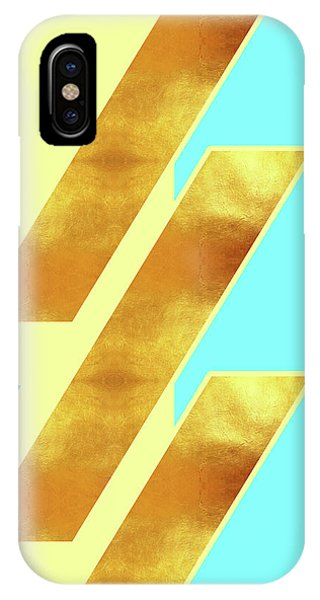 Pastel Colors iPhone Case - Beige, Blue And Gold Stripe Pattern - Pastel Colors - Abstract Pattern Design - Modern, Minimal by Studio Grafiikka
