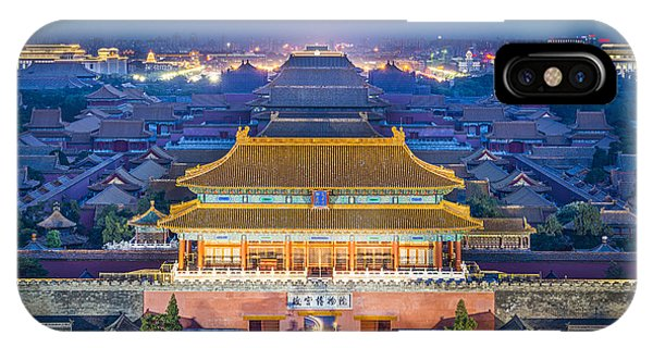 Dusk iPhone Case - Beijing, China At The Imperial City by Esb Professional