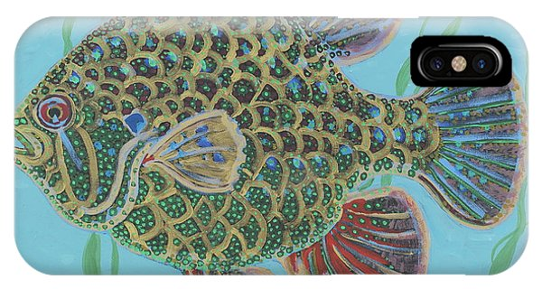 Bejeweled Bluegill IPhone Case