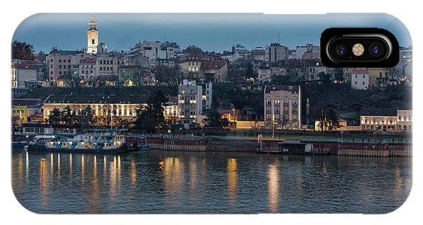 Belgrade Skyline And Sava River IPhone Case