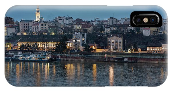 IPhone Case featuring the photograph Belgrade Skyline And Sava River by Milan Ljubisavljevic