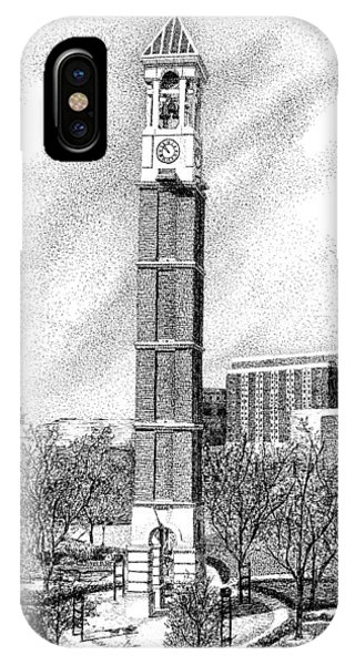 Purdue Boilermakers iPhone Case - Bell Tower, Purdue University, West Lafayette, Indiana by Stephanie Huber