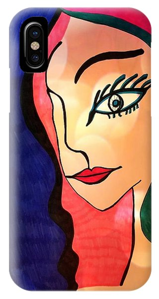 IPhone Case featuring the mixed media Belle Dame by Rachel Maynard