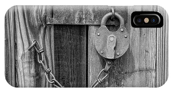IPhone Case featuring the photograph Belmont Lock, Black And White by Leland D Howard