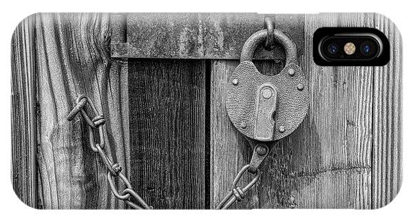 Belmont Lock, Black And White IPhone Case